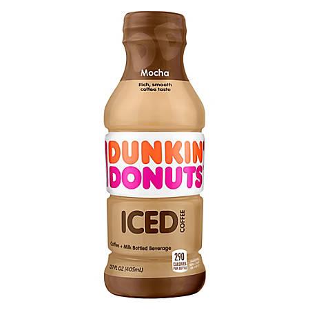 Dunkin' Donuts Iced Coffee, Mocha, 13.7 Oz