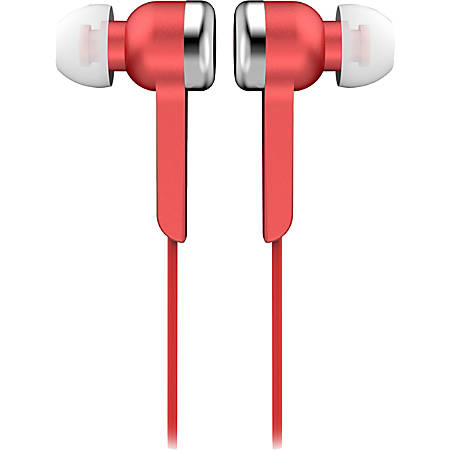 IQ Sound Digital Stereo Earphones - Stereo - Red - Wired - Earbud - Binaural - In-ear - 4 ft Cable