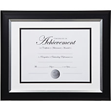 Dax 2 tone Silver Document Frame