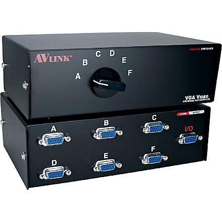 QVS HD15 VGA/SXGA Premium Manual Switch - 1280 x 1024 - SXGA - 6 x 11 x VGA Out