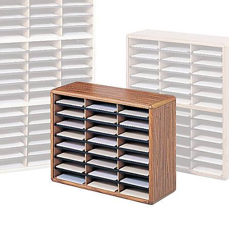 Safco® Value Sorter® Steel Corrugated Literature Organizer, 24 Compartments, Gray