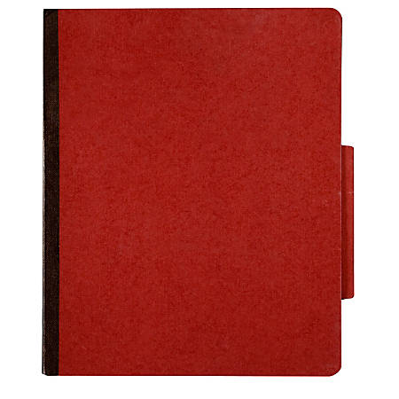 Pressboard Classification Folder, 4-Part, Letter Size, 30% Recycled, Earth Red (AbilityOne 7530-01-523-4594)