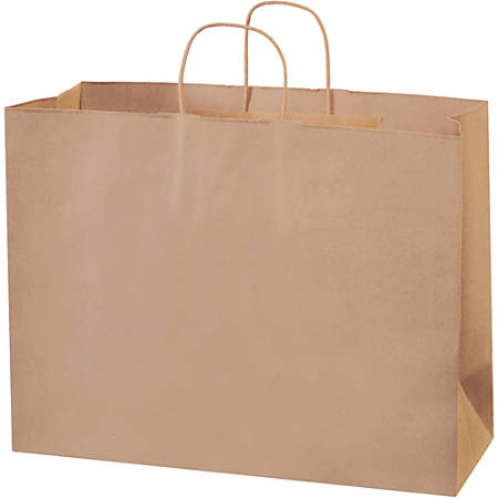 "Partners Brand Paper Shopping Bags, 12""H x 16""W x 6""D, Kraft, Case Of 250"