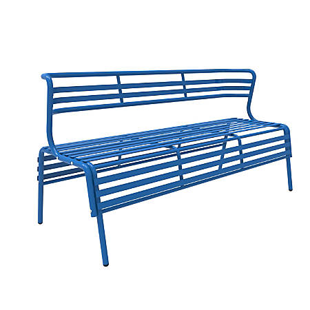 Safco® CoGo™ Indoor/Outdoor Bench With Back, Blue