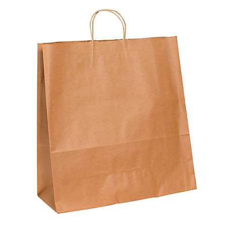 "Partners Brand Paper Shopping Bags, 18 3/4"" x 18""W x 7""D, Kraft, Case Of 200"
