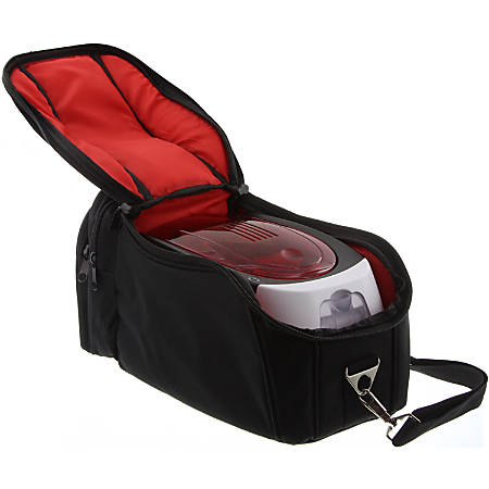 Badgy Carrying Case Portable Printer - Black, Red