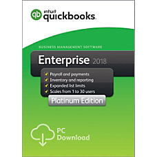QuickBooks Desktop Enterprise Platinum 2018 3