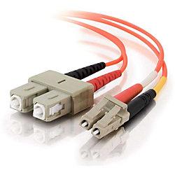 C2G-30m LC-SC 50/125 OM2 Duplex Multimode Fiber Optic Cable (Plenum-Rated) - Orange - Fiber Optic for Network Device - LC Male - SC Male - 50/125 - Duplex Multimode - OM2 - Plenum-Rated - 30m - Orange
