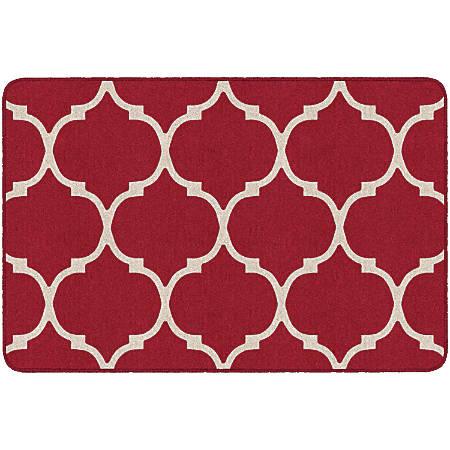 "Flagship Carpets Moroccan Trellis Rectangular Rug, 48"" x 72"", Red"