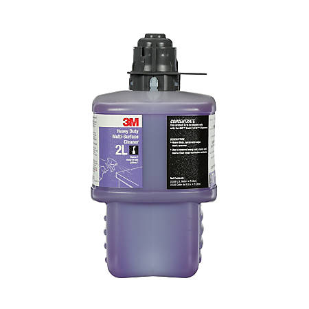 3M™ 2L Heavy-Duty Multi-Surface Cleaner Concentrate, 2 Liters, Pack Of 6