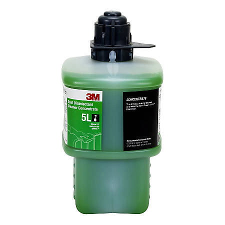 3M™ 5L Quat Disinfectant Cleaner Concentrate, 2 Liters, Pack Of 6