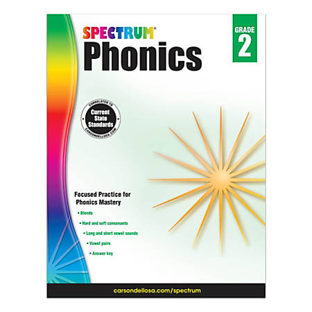 Carson-Dellosa Spectrum Phonics Workbook, Grade 2