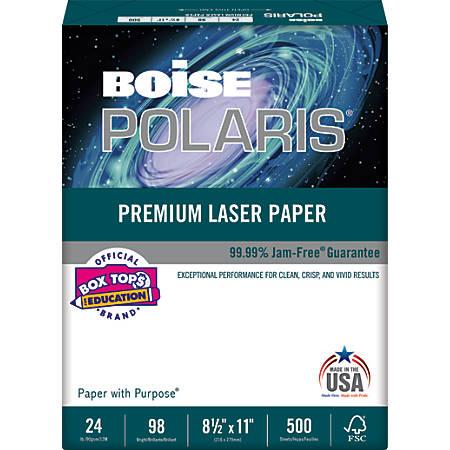 Boise POLARIS® Premium Laser Paper, Letter Paper Size, 98 Brightness, 24 Lb, FSC® Certified, White, Ream Of 500 Sheets