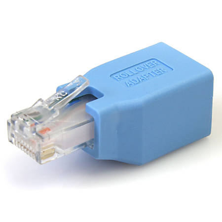 StarTech.com Cisco Console Rollover Adapter for RJ45 Ethernet Cable M/F - 1 x RJ-45 Female Network - 1 x RJ-45 Male Network - Blue
