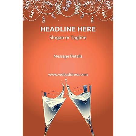 Custom Poster, Champagne Flutes, Vertical