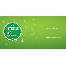 Custom Horizontal Banner Green Background
