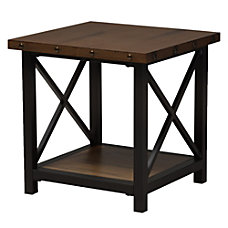 Baxton Studio Milan End Table Brown