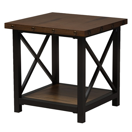 Baxton Studio Milan End Table, Brown