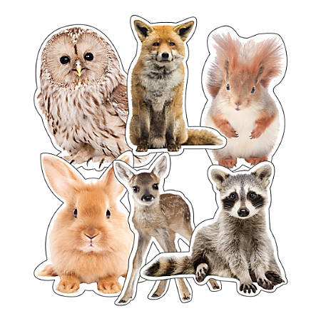 Schoolgirl Style Cut-Out Decorations, Animals, Pack Of 36 Decorations