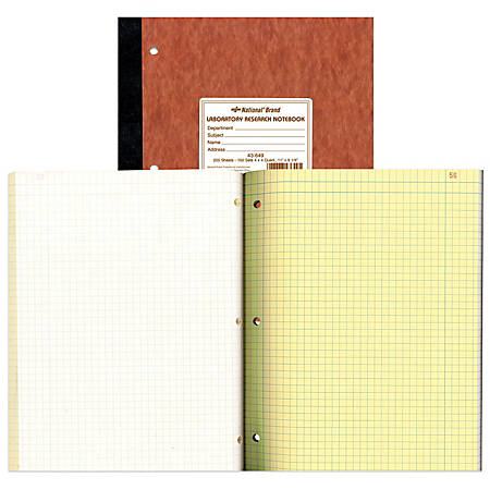 national brand laboratory research notebooks 9