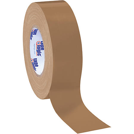 "Tape Logic® Color Duct Tape, 3"" Core, 2"" x 180', Brown, Case Of 24"