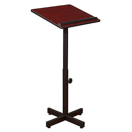 Oklahoma Sound? Portable Presentation Lectern Stand, Mahogany