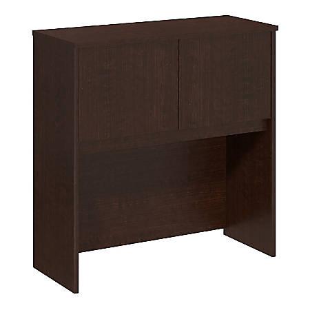 "Bush Business Furniture Components Elite Hutch 36""W, Mocha Cherry, Premium Installation"