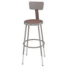 National Public Seating Adjustable Hardboard Stool