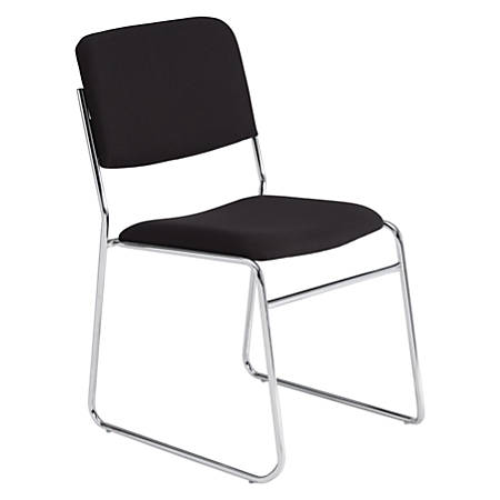 National Public Seating 8600 Signature Series Stack Chair, Black/Chrome