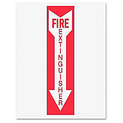 Tarifold Safety Sign Inserts Fire Extinguisher