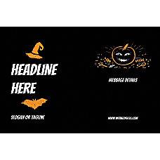 Adhesive Sign Black Halloween Horizontal