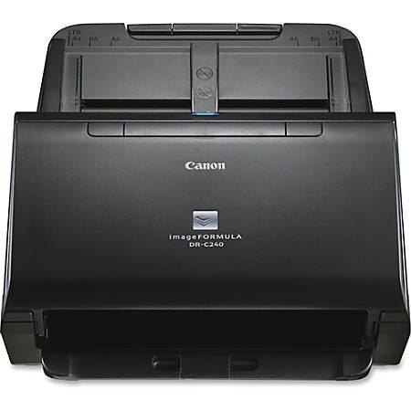 Canon imageFORMULA DR-C240 Sheetfed Scanner - 600 dpi Optical - 24-bit Color - 8-bit Grayscale - 45 ppm (Mono) - 30 ppm (Color) - Duplex Scanning - USB