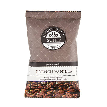 Executive Suite® Coffee Single-Serve Packets, French Vanilla, 2 Oz, Carton Of 24