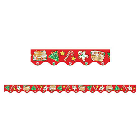 """Teacher Created Resources Border Trim, 2 3/16"""" x 35"""", Christmas, Pre-K - College, Pack Of 12"""