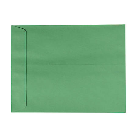 "LUX Open-End Envelopes With Peel & Press Closure, #9 1/2, 9"" x 12"", Holiday Green, Pack Of 1,000"