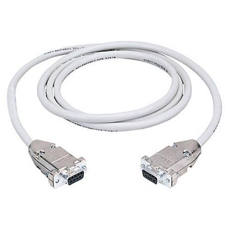 Black Box Serial Null Modem Cable - DB-9 Female Serial - DB-9 Female Serial - 50ft - Beige