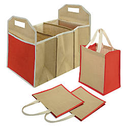 Global Car Storage Organizer With 3 Grocery Totes 24 H x 12 14 W x 16 D Natural by Office Depot & OfficeMax