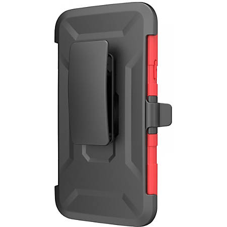 i-Blason Prime Carrying Case (Holster) Smartphone - Red - Shock Absorbing, Impact Resistant, Drop Resistant, Abrasion Resistant - Polycarbonate, Silicone - i-Blason Logo - Holster, Belt Clip