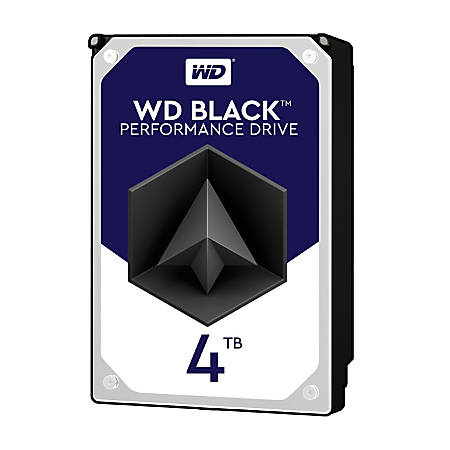 WD Black 4TB Internal Hard Drive For Desktops, 256MB Cache, SATA III