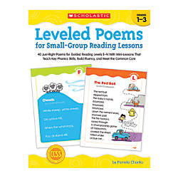 Scholastic Leveled Poems For Small Group