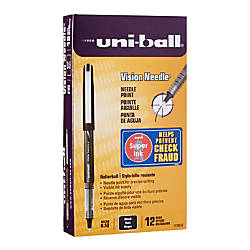 uni ball Vision Needle Liquid Ink