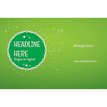 Adhesive Sign, Green Background, Horizontal