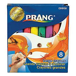 Prang Large Crayons 4 H x