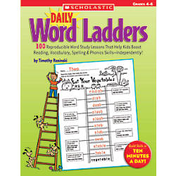 Scholastic Daily Word Ladders Grades 4 6 By Office Depot