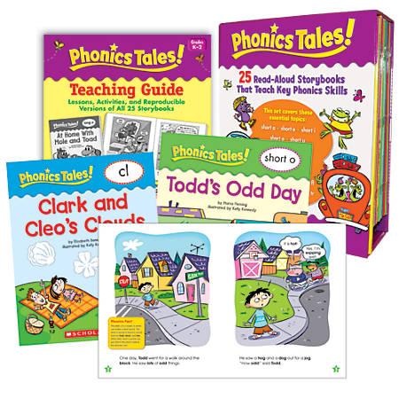 Scholastic Phonics Tales, 16 Pages Per Book, Set Of 25 Books