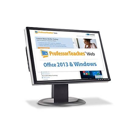 Professor Teaches Web - Office 2013 & Windows 10 Quarterly Subscription