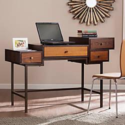 Southern Enterprises Kedzie Mutilevel Desk Espresso