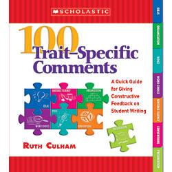 Scholastic 100 Trait Specific Comments