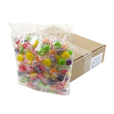 Quality Candy Tropical Fruit Hard Candy Disks, 5-Lb Box