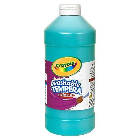 Crayola Washable Tempera Paint - 1 quart - 1 Each - Turquoise Blue